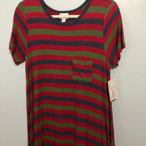 Small Carly lularoe stripes NWT red blue green